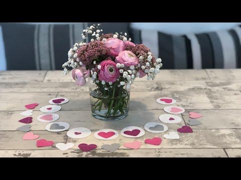 DIY Papier-Herz-Girlande für verschiedene Anlässe (Muttertag, Hochzeit, Taufe, Geburtstag...)