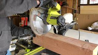 How to cut a 6x6 Timber with a miter saw