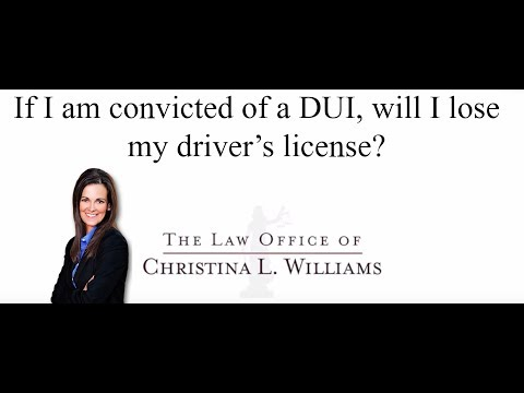 If I am convicted of a DU…