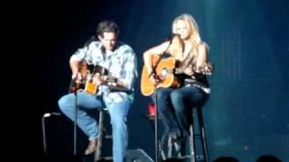 "Miranda and Blake singing ""More Like her"""