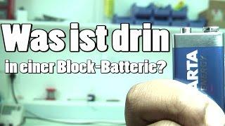 Was ist in einer 9V Block Batterie drin?