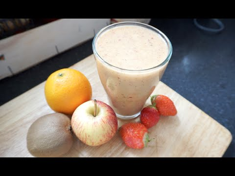 Video Healthy Orange Apple Kiwi Juice Recipe