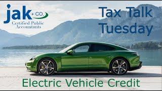 Tax Talk: Now's the Time to Buy a Porsche! The electric vehicle tax credit.