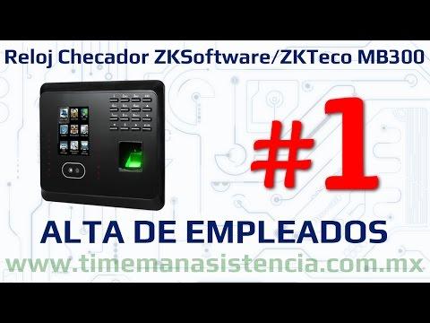 Reloj Checador MB300 [Parte 1] - Alta de Empleados | ZKSoftware  | ZKTeco | Huella Digital | Facial