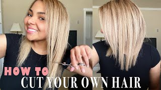 HOW TO CUT YOUR OWN HAIR AT HOME | DIY Layered Haircut Tutorial