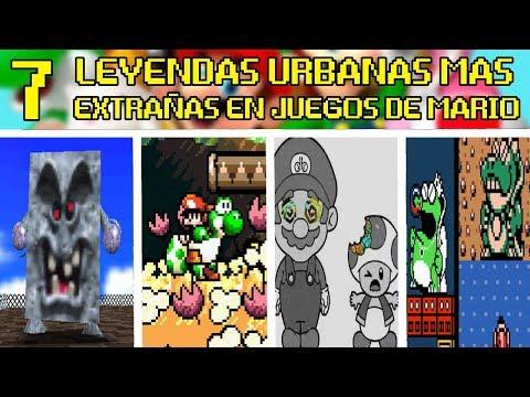7 LEYENDAS URBANAS MAS EXTRAÑAS en JUEGOS de MARIO