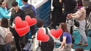 Mỹ Tâm được bạn trai chăm sóc tận tình ở sân bay | Tam Hak Couple