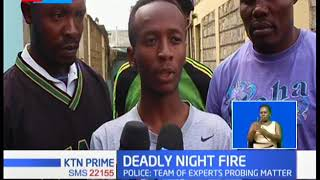 Three people have been confirmed dead in a deadly fire in Kariobangi