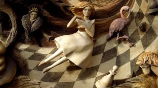 Alice in Wonderland - 3d wood carved picture