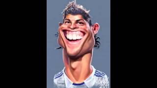 Cristiano Ronaldo caricature funny funny 2015