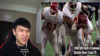 台灣小哥對美式足球最厲害達陣的反應 Taiwanese guy reacts to NFL - The Most Dominant Touchdown Runs in NFL History