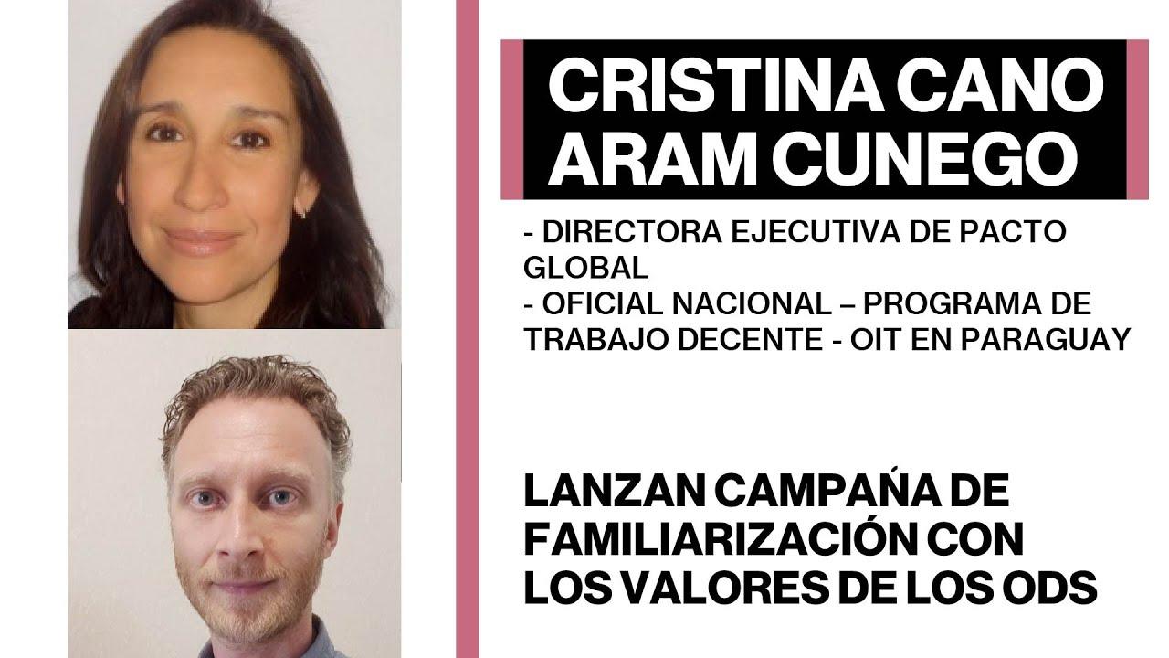 Cristina Cano y Aram Cunego - Lanzan campaña de familiarización con los valores de los ODS