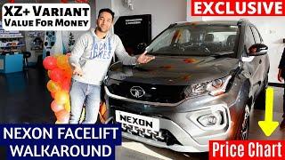 Tata Nexon Facelift Price Chart, Walkaround,Value for Money Variant XZ+, Interior, SHOWROOM Video