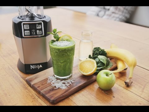Video Nutri Ninja Recipe - The Incredible Hulk Juice with Banana, Kale & Coconut Water