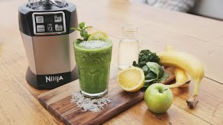 Nutri Ninja Recipe - The Incredible Hulk Juice with Banana, Kale & Coconut Water