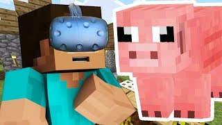 MINECRAFT IN VIRTUAL REALITY - EVERYTHING IS SO CUTE!!! (Minecraft HTC Vive)
