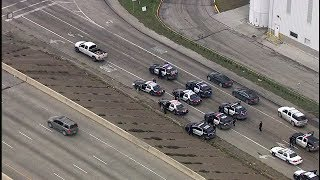 RAW VIDEO: Truck leads police on chase out of southeast Houston