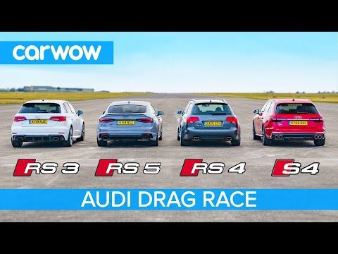 Audi RS5 vs RS3 vs S4 vs old RS4: Drag Race *Closer than you think*