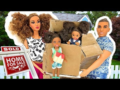 Barbie Sisters Move in New House  - Kitchen Bedroom Pink Bathroom Closet | Naiah and Elli Doll Show