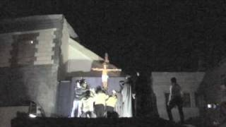Crucifixion re-enactment in Damascus, Syria