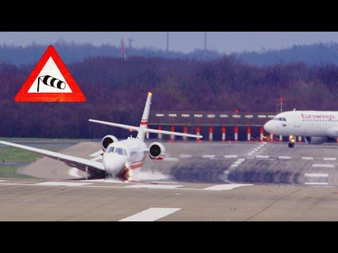 Turbulente Landung