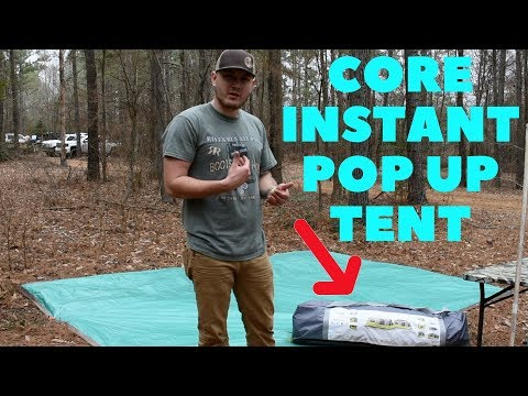 Core 9 person instant pop up tent set up and review