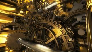 Golden Clockwork Animation Intro - Cinema 4D