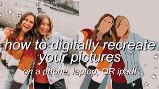 How To Make Digital Illustrations Of Photos On Phone, Laptop, OR Ipad. | CARTOON YOURSELF/vector Art