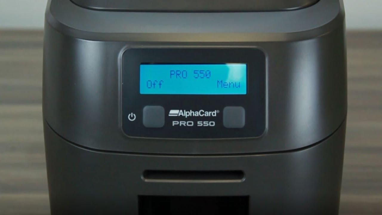AlphaCard PRO 550 - Printer Overview