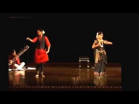 Guru Shovana Narayan & disciple Mrinalini dancing on Khusro's Riddles Part I