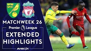 Norwich City v. Liverpool | PREMIER LEAGUE HIGHLIGHTS | 2/15/2020 | NBC Sports