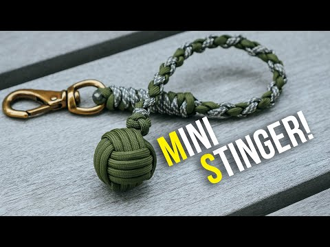 MINI Monkey's Fist Stinger Keychain Impact Tool Tutorial
