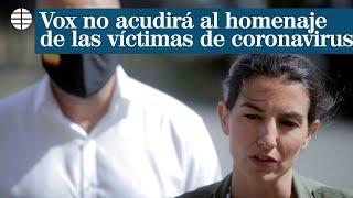 """Vox defiende que no acude al homenaje de las víctimas donde se consolidan """"las mentiras"""""""