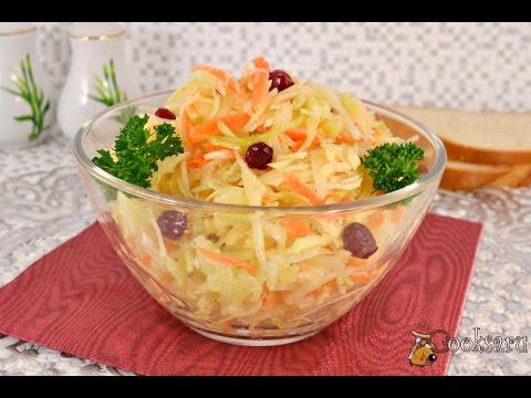 Салат из капусты и моркови с уксусом