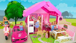 Pink Fold'n Fun House for Dolls, Barbie Convertible R/C Car Puppenhaus Mobil سيارة Voiture Carro
