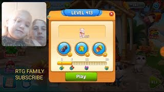 Lets play Meow match level 413 HARD LEVEL HD 1080P featuring my daughter