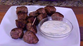 Greek Meatballs With Dill Dip