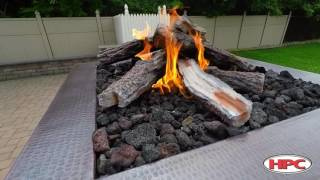 Outdoor Fire Pit Western Pine Log Set