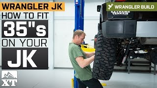 How To Fit 35s Tires On Your Jeep Wrangler JK | Jeep Gets 3 Teraflex Lift And 35s Installed