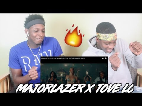 Major Lazer - Blow That Smoke Feat. Tove Lo (Official Music Video)- REACTION/REVIEW