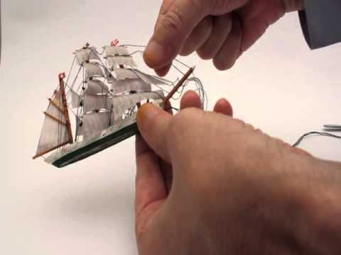 Buddelschiff Bausatz Gorch Fock / US Coastguard Eagle Bauanleitung Version 1