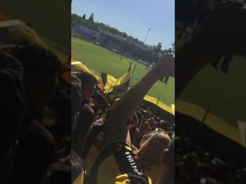 """""""Recibimiento hinchada de Peñarol vs Danubio- Tema nuevo"""" Barra: Barra Amsterdam • Club: Peñarol"""