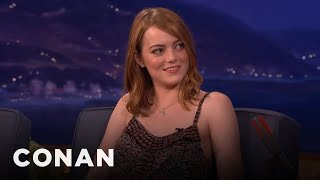 Emma Stone Explained Twitter To Woody Allen   CONAN On TBS