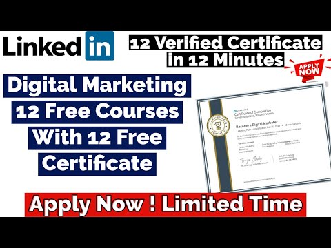 Digital Marketing 12 Free Courses With 12 Free Certificate ...