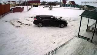 Смотреть онлайн Водитель не вовремя выехал с парковки