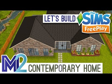 Sims FreePlay - Let's Build a Contemporary Home (Live Build Tutorial)