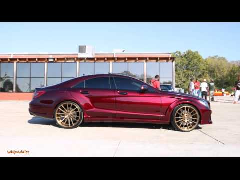 WhipAddict: Pun's Kandy Brandywine Mercedes-Benz CLS AMG on Anodized Gold Savini 22s