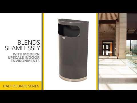 Полукруглая урна серии Designer 34 литра FGSO820PLBK