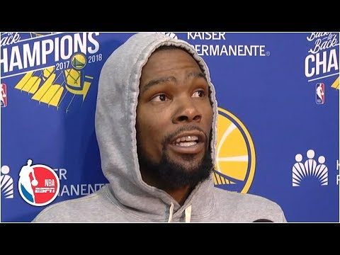 Kevin Durant reacts to critics who say Warriors are better without him | 2019 NBA Playoffs