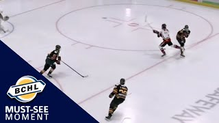 Must See Moment: Porter Dawson dangles on the way to scoring his first BCHL goal